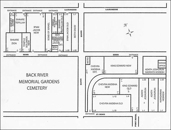 Map of Back River Cemetery