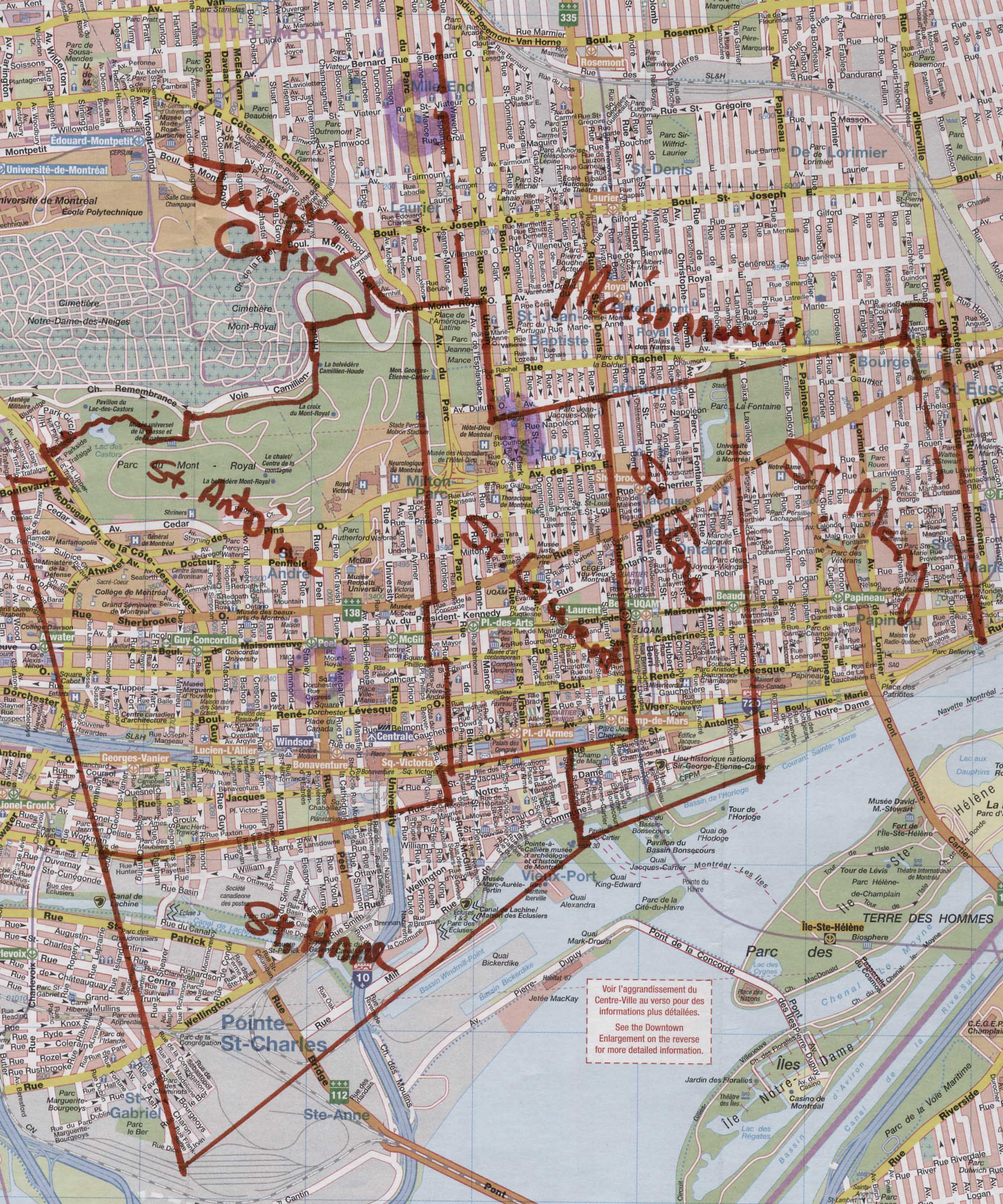 Montreal Census Map - Montreal canada map